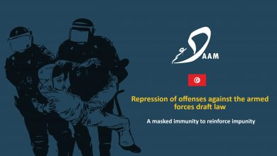 Photo of Repression of offenses against the armed forces draft law: A masked immunity to reinforce impunity