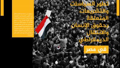 Photo of تطور السياسات والتشريعات المتعلقة بحقوق الإنسان والانتقال الديمقراطي في مصر