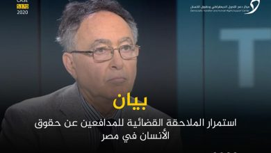 Photo of الحكم على بهي الدين حسن بالسجن 15 عام استمرار الملاحقة القضائية للمدافعين عن حقوق الأنسان في مصر