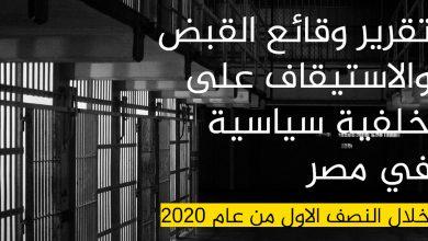 Photo of تقرير وقائع القبض والاستيقاف على خلفية سياسية
