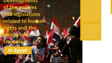 Photo of Developments policies the of legislations and human to related the and rights democratic transition in Egypt